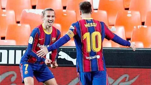 Griezmann ngày càng chơi ăn ý với Messi