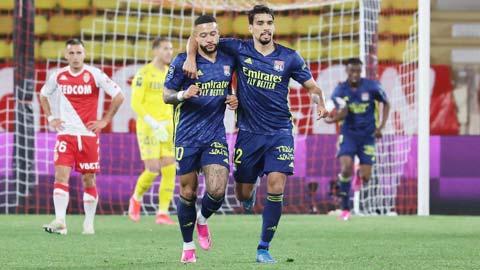 Lyon thu hẹp khoảng cách với Top 3 xuống còn 1 điểm sau khi ngược dòng đánh bại Monaco