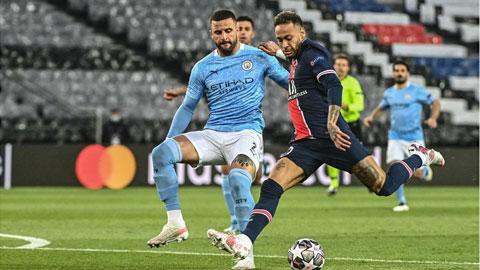 Man City (trái) sẽ không để PSG lật ngược thế cờ