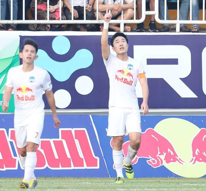 Cầu thủ HAGL đang có phong độ cao, trái ngược với sự phập phù của Hà Nội FC