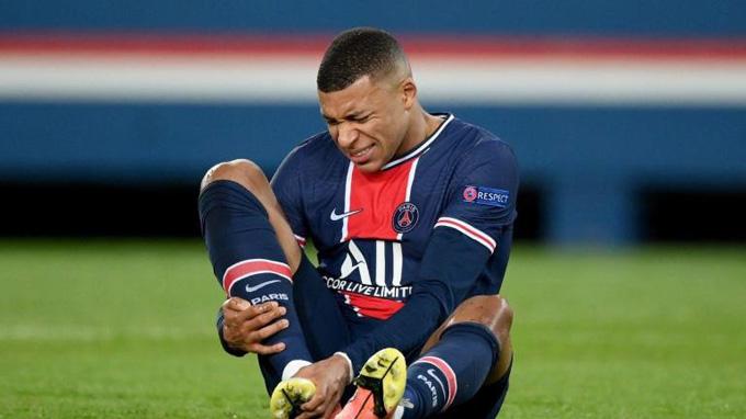 Mbappe vẫn đang có dấu hiệu chấn thương và chưa chắc đủ thể lực ra sân ở trận lượt về với Man City