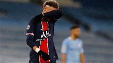 Neymar không có nổi 1 cú sút trúng đích trước Man City