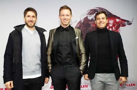 """Bộ ba Gluck - Nagelsmann - Hardung (từ trái qua) là một """"team"""" ăn ý không thể tách rời"""
