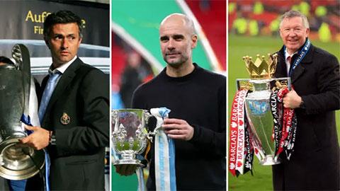 Jose Mourinho xếp sau Guardiola trong top 10 HLV 'mát tay' nhất thế kỷ 21