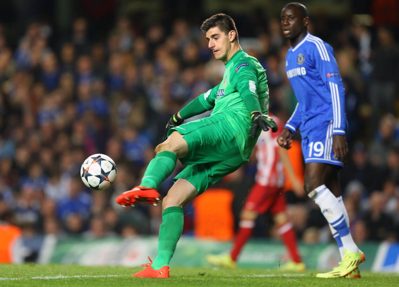 Năm 2014, Courtois góp công lớn giúp Atletico loại đội bóng chủ quản Chelsea tại bán kết Champions League