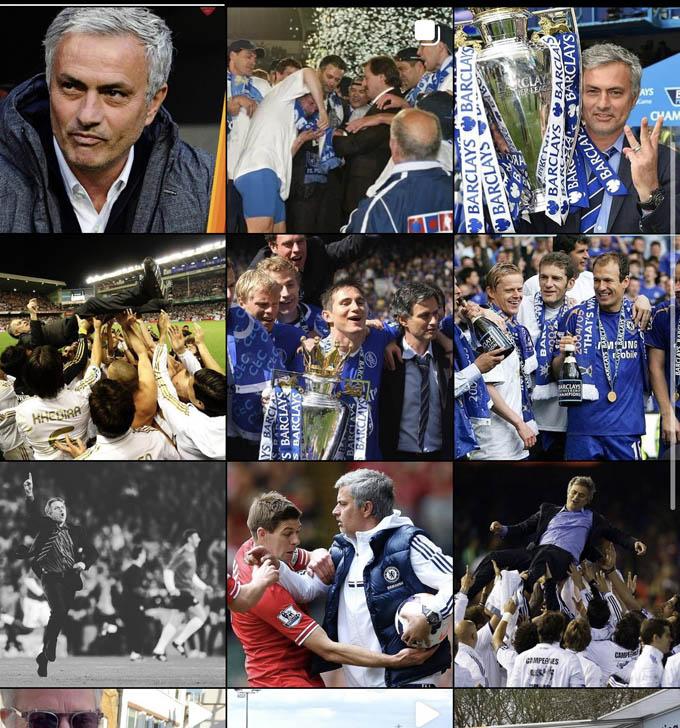 Mourinho đăng những khoảnh khắc tuyệt vời trong sự nghiệp để tìm việc làm trước khi đến Roma