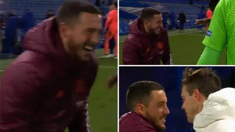 Fan Real choáng nặng khi Hazard cười tươi ăn mừng với Chelsea