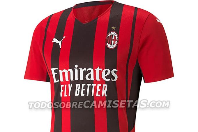 Mẫu áo sân nhà mà Milan sẽ dùng trong mùa giải tới