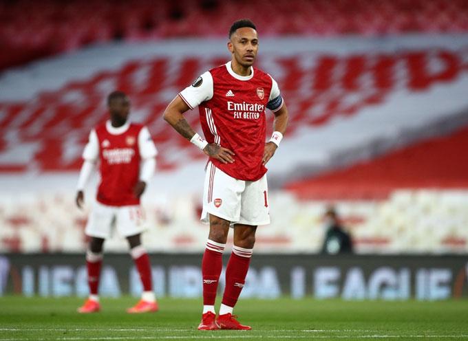Arsenal gây thất vọng