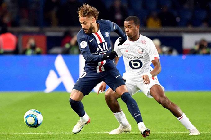 PSG đang thất thế trước Lille
