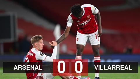 Kết quả Arsenal 0-0 Villarreal: Cột dọc từ chối, Arsenal nhìn Villarreal vào chung kết Europa League