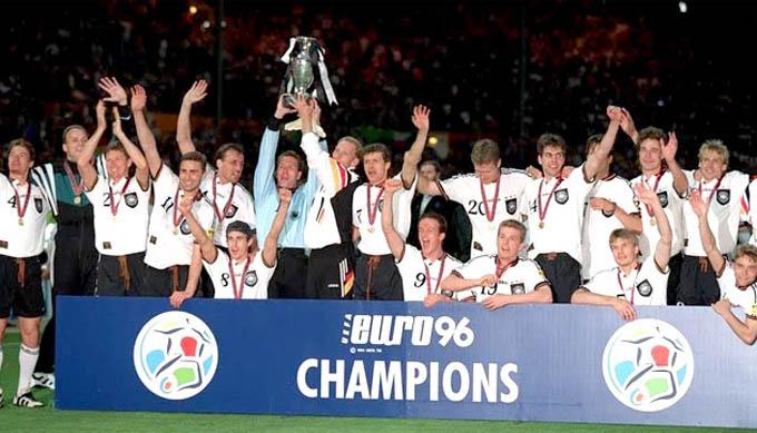 Đức chưa lần thứ 4 vô địch EURO kể từ năm 1996