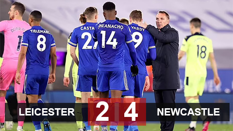 Kết quả Leicester 2-4 Newcastle: Báo động đỏ cho Leicester
