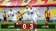 Kết quả Lens 0-3 Lille: Sải bước tới ngôi vương