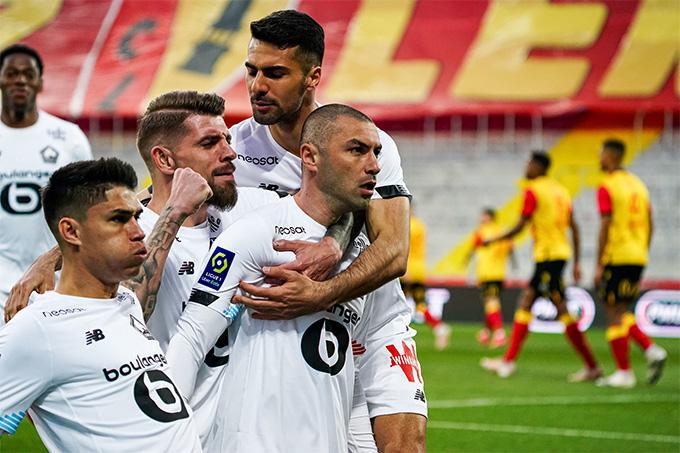 Lille có chiến thắng tưng bừng để tiến gần hơn tới chức vô địch