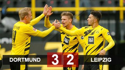 Kết quả Dortmund 3-2 Leipzig: Thắng kịch tính Leipzig, Dortmund 'dâng' cúp cho Bayern