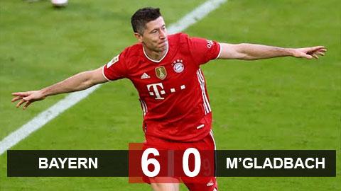 Kết quả Bayern Munich 6-0 M'Gladbach: Bayern mừng chức vô địch Bundesliga bằng cơn mưa bàn thắng - xs thứ hai