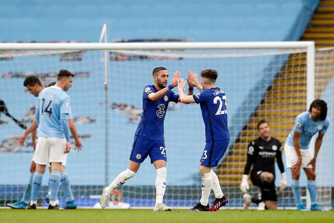 Chelsea có lần thứ 2 liên tiếp đánh bại Man City