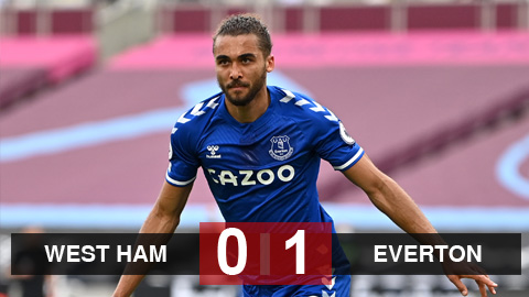 Kết quả West Ham 0-1 Everton: Lingard tịt ngòi, West Ham khó mơ Champions League