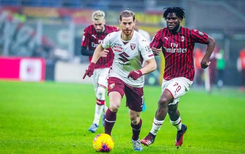Đà thăng tiến của Milan sẽ bị chủ nhà Torino (áo sáng) đang rất khát điểm chặn lại