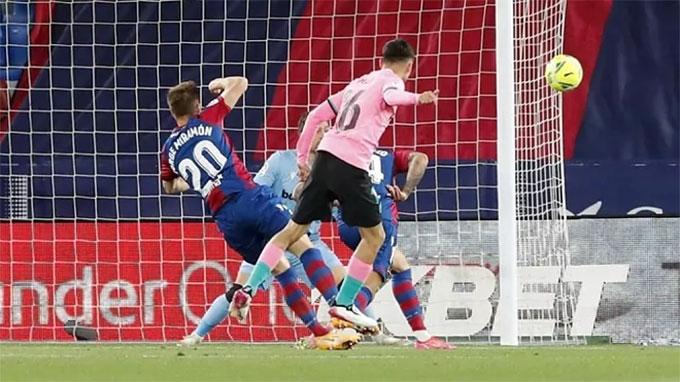Levante đã bất bại trong 3 lần tiếp đón Barca gần nhất