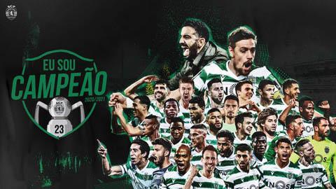 Sporting Lisbon vô địch Bồ Đào Nha sau 19 năm chờ đợi