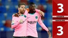 Levante vs Barcelona: 3-3 (Vòng 36 La Liga 2020/21)