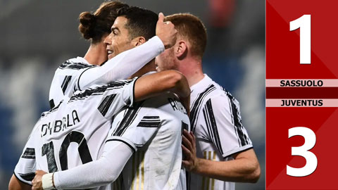 Sassuolo vs Juventus: 1-3 (Vòng 36 Serie A 2020/21)