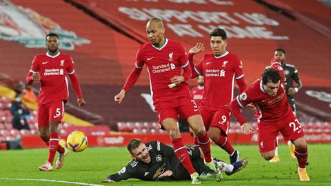 Liverpool nhiều khả năng sẽ vượt qua một MU không còn nhiều động lực ở mặt trận Premier League