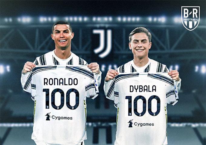 Ronaldo và Dybala cùng cán mốc 100 bàn thắng cho Juventus