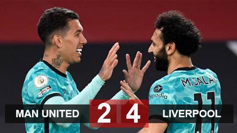 Kết quả MU 2-4 Liverpool: Hủy diệt Quỷ đỏ, The Kop áp sát top 4