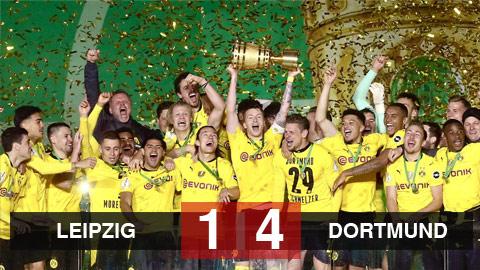 Kết quả Leipzig 1-4 Dortmund: Dortmund vô địch cúp Quốc gia