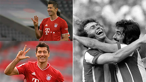 Lewandowski chinh phục cột mốc ghi bàn tồn tại nửa thế kỷ của Gerd Mueller