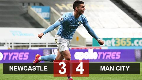 Kết quả Newcastle 3-4 Man City: Tiệc bàn thắng chào đón tân vương