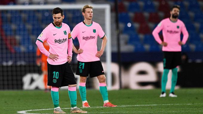 Barca không còn mạnh như trước và Messi cũng mất dần cơ hội giành các danh hiệu