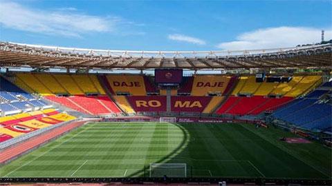 Trận AS Roma vs Lazio ''cháy vé'' dù diễn ra trong sân không khán giả