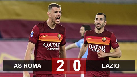 Kết quả Roma 2-0 Lazio: Lazio hết cửa vào Top 4