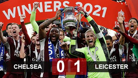 Kết quả Chelsea 0-1 Leicester: Hút chết phút cuối, Bầy cáo giành cúp FA 2020/21