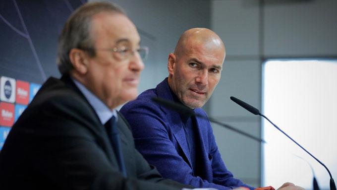 Zidane được cho là bất đồng với chủ tịch Florentino Perez