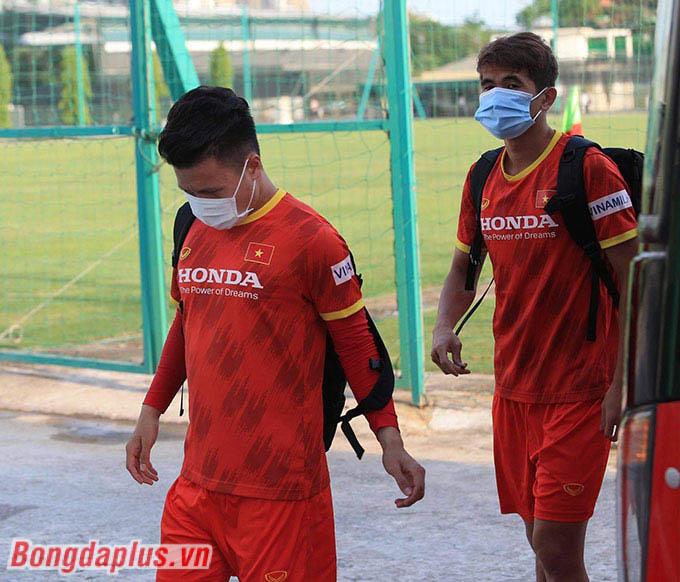 Quang Hải xuất hiện trong buổi tập chiều ngày 17/5 cùng đội tuyển Việt Nam
