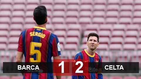 Kết quả Barca 1-2 Celta Vigo: Barca chính thức đầu hàng cuộc đua vô địch