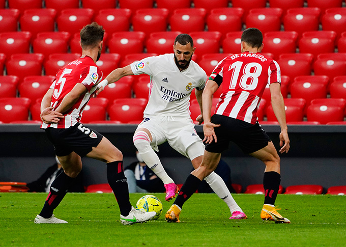 Real có một trận đấu rất vất vả trước Bilbao