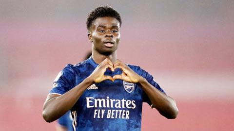 Bukayo Saka dẫn đầu top 10 cầu thủ tăng giá mạnh nhất tại Premier League