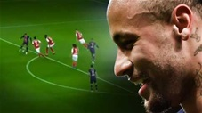 Neymar đánh gót loại 4 cầu thủ Reims rồi chuyền bóng tuyệt vời cho Mbappe