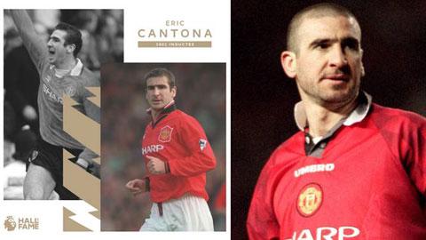 Cantona thành người thứ 3 được đứng trong Ngôi đền huyền thoại Premier League