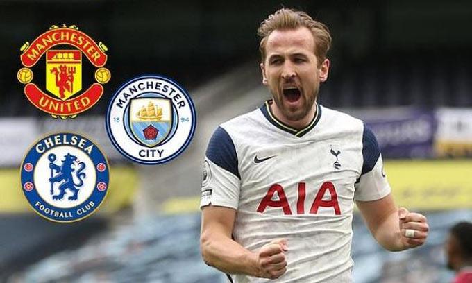 Có khá nhiều đội bóng sẽ là đối thủ của MU trong thương vụ mua Kane trong đó có Man City và Chelsea