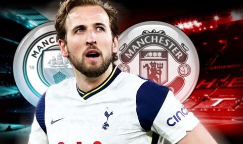 Kane đang là mục tiêu tranh giành của MU và Man City