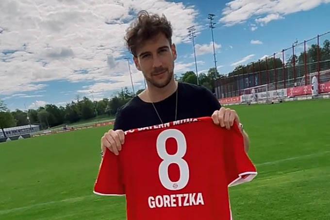 Goretzka sẽ mặc áo số 8 của Bayern ở mùa tới