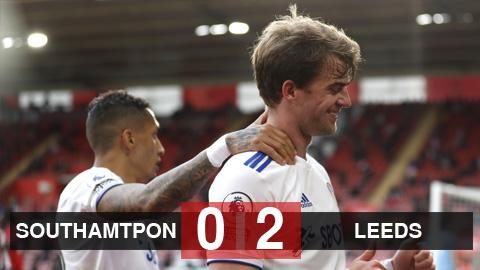 Kết quả Southampton 0-2 Leeds: Cửa dự cúp châu Âu vẫn còn