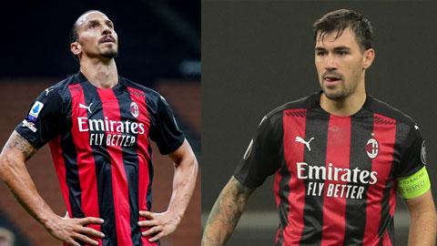 Cả Ibra và Romagnoli (ảnh phải) đều không được dự EURO 2020